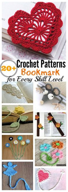 20+ Crochet Bookmark Patterns for Every Skill Level  Definitely want to make many of these. #CrochetGifts