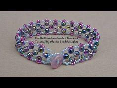 Rockin RounDuo Beaded Bracelet Tutorial - YouTube free tutorial