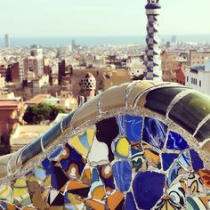 Gaudi's influence makes Park Guell one of the world's most colorful city parks. Photo courtesy of anywhere_worldwide on Instagram.