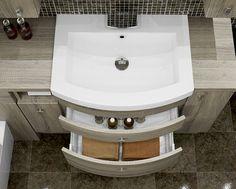 Bardolino Oak - This amazing curved basin unit looks stunning and provides plenty of storage. Fitted Bathroom Furniture, Modern Furniture, Home Furniture, Basin Unit, British Home, Furniture Manufacturers, Bathrooms, Storage, Amazing