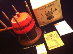 Retro Orange Fondue Set Complete with Original Box by JaybirdFinds, $58.00
