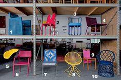 Modelos de cadeira (Foto: André Klotz)