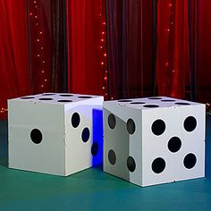 These Giant Cardboard Dice make great photo ops at your casino night.  Gotta make some of these.