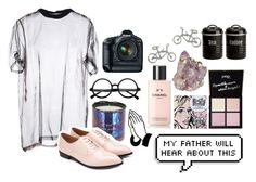 """pacify her, she's getting on my nerves"" by capanda13 ❤ liked on Polyvore featuring Givenchy, Tom Dixon, Chanel, Pop Beauty, Eos, Typhoon and Forever 21"