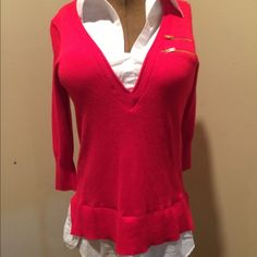 Shirt Red shirt from body central. Never worn Body Central Tops Blouses
