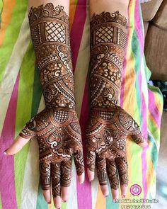 Latest Bridal Mehndi Designs 2020 - Images & I Henna Hand Designs, Mehndi Designs Finger, Full Hand Mehndi Designs, Mehndi Designs Book, Mehndi Designs For Girls, Mehndi Designs For Beginners, Mehndi Design Photos, Latest Mehndi Designs, Mehndi Images
