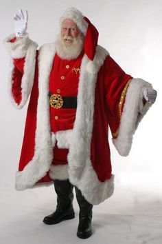 ...  all of the Santa Suits, Robes, boots, leather belts and vests are made to order. Description from santaswardrobe.com. I searched for this on bing.com/images