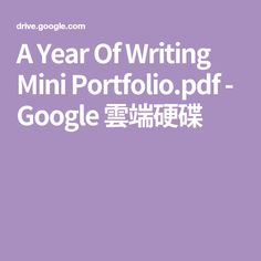 A Year Of Writing Mini Portfolio. Preschool Assessment, Portfolio Pdf, Writing, Mini, Google, Being A Writer