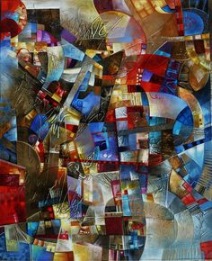 abstract art by amy and romain torrente