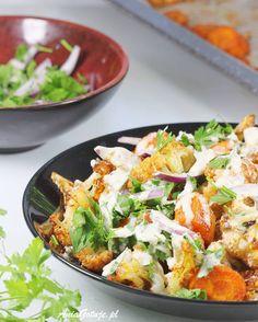 Sałatka z kalafiora | AniaGotuje.pl Cooking Recipes, Healthy Recipes, Healthy Food, Potato Salad, Good Food, Food Porn, Food And Drink, Appetizers, Low Carb