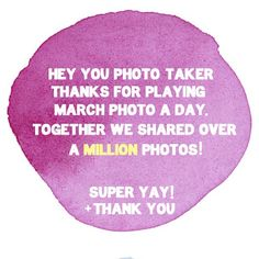 Thank you for making photo-taking so much fun!