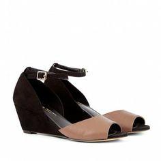 Black & Tan Wedge Shoes