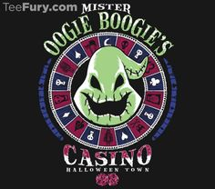 Oogie's Casino T-Shirt $11 Nightmare Before Christmas tee at TeeFury today only!