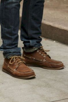 Simple and cool boat shoes outfit for mens 02