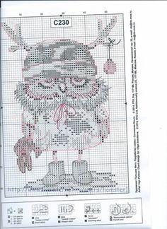 Gallery.ru / Фото #4 - + - Hela76 Cross Stitch Owl, Cross Stitch Books, Beaded Cross Stitch, Cross Stitch Animals, Cross Stitching, Cross Stitch Embroidery, Embroidery Patterns, Cross Stitch Patterns, Needlepoint Stitches