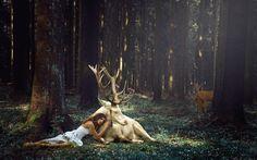 girl on deer wallpaper - Hľadať Googlom