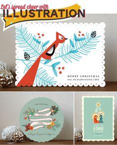 Illustrative holiday card