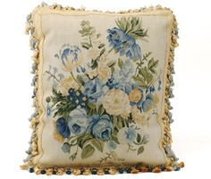 Pierre Deux's beautiful floral needlepoint pillow.