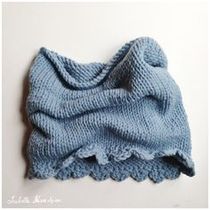Snood au tricot tutorial by Isabelle Kessedjian. In French.
