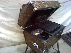 $11,500 -- Working BBQ grill decorated as a pirate's treasure chest   39 Ridiculously Expensive Weird Items On Etsy