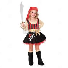 glamour girl pirate costume little children - Halloween Pirate Costume Ideas