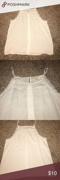 Lace detailed tank Great condition  Super cute Tops Tank Tops