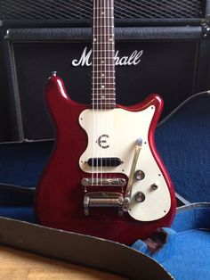 Vintage 1965 Epiphone Olympic (crestwood, wilshire, cornet) electric guitar with original case