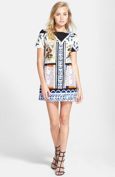 Glamorous Print Shift Dress available at #Nordstrom