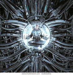 Time portal harmony of science fiction scene showing peaceful astronaut meditating inside complex futuristic alien machine , Air Company, Time Travel Machine, Astronaut Helmet, Unique Business Cards, Science Fiction Art, Anatomy Art, Portal, Fantasy Art, Meditation