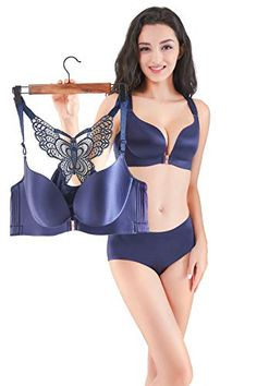 9af1238ab Women Front Closure Plus Size Bra Butterfly Wirefree Minimizer Push Up  Everyday Bras