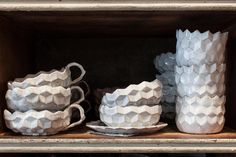 astier de villate stunning pieces handmade in paris Ceramic Tableware, Ceramic Pottery, Pottery Art, Ceramic Art, Classic Plates, Egg Holder, Ceramic Studio, Plate Design, White Ceramics