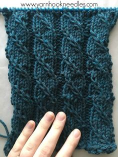 The Triple 'T' Knit Stitch – The Twisted Trill with FREE Pattern Link   Yarn Hook Needles