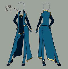 Outfit ideas January Commissions by rika-dono on DeviantArt Clothes Draw, Drawing Clothes, Fashion Design Drawings, Fashion Sketches, Anime Outfits, Cool Outfits, Poses References, Hero Costumes, Anime Dress
