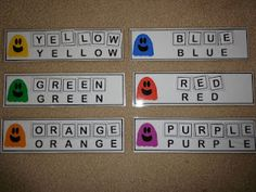 Three Ghost Friends: Spell Your Color Words with the Three Ghost Friends - Toddler Busy Bag, Shoe Box Task Activity