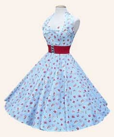 1950s Halterneck Retro Fabric Dress from Vivien of Holloway | 1950s Dresses from Vivien of Holloway