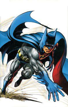 Batman: Illustrated by Neal Adams Vol. 1 (Batman Illustrated By Neal Adams) Superman, Im Batman, Batman Art, Batman Painting, Batman Stuff, Comic Book Artists, Comic Book Heroes, Comic Books Art, Comic Art