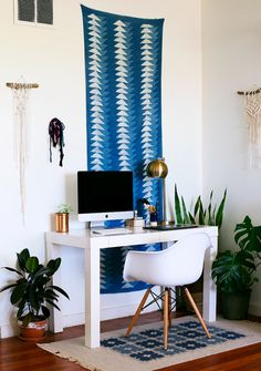 Runners are especially great on surfaces that have a unique shape: You can hang them vertically for tall, skinny walls or horizontally on a low, wide area.