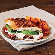 Summer Tomato, Mozzerella & Basil Panini with balsalmic syrup - 325 calories per sandwich