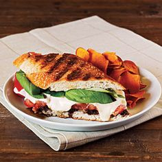 Summer Tomato, Mozzarella, and Basil Panini with Balsamic Syrup | MyRecipes.com