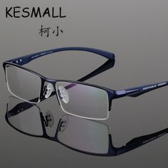 1969bfc373 Online Shop KESMALL 2017 Glasses Frame Men Hlaf-Frame Business Metal Fashion  Eyeglasses Frame Anti Bule-Ray CY118