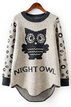 Standout Night Owl Sweater OASAP.com