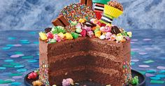 For the ultimate party cake, try your hand at our spectacular three-layer chocolate crackle freckle cake.
