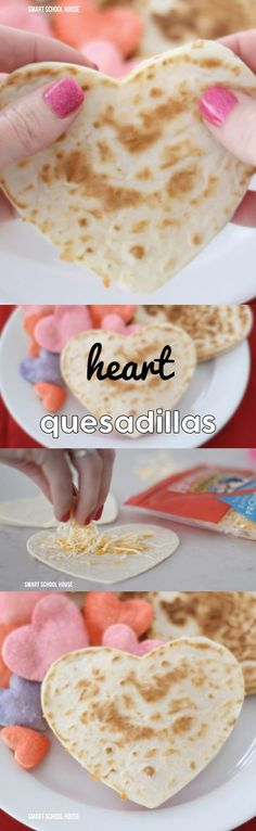 Heart Quesadillas - for Valentine's Day. So cute!