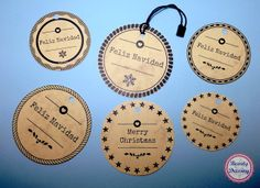 Freebies. Etiquetas craft para regalos de Navidad imprimibles y gratis 2/2 Free printable craft christmas tags