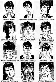 Dylan Dog - drawn by various artists that worked on the book  Roi e Freghieri <3