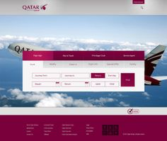 Qatar Airlines Web App by Rashvin Mohammed Abdul Rahim, via Behance