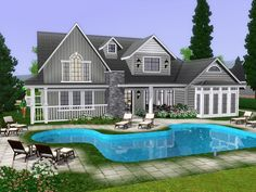 Villa Lora is large family villa with two floors. Found in TSR Category 'Sims 3 Residential Lots' The Sims, Sims 3, Sims 4 Family House, Sims 4 House Design, Sims 4 Build, Anime Scenery Wallpaper, Sims 4 Mods, Minecraft Houses, Villa
