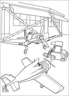 Dibujos para Colorear. Dibujos para Pintar. Dibujos para imprimir y colorear online. Aviones 41