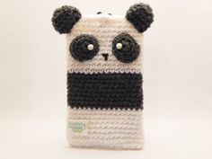 Amigurumi Panda Phone Case Pouch by BubblyTeaShop on Etsy