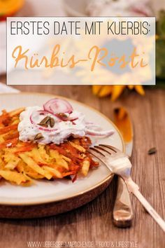 Erstes Date mit Kürbis: Kürbis-Rösti | First recipe with Hokkiado pumpkin: Pumpkin-Rösti, so easy and delicious. For the beginning you can use pumpkin like potato via www.uebersee-maedchen.de